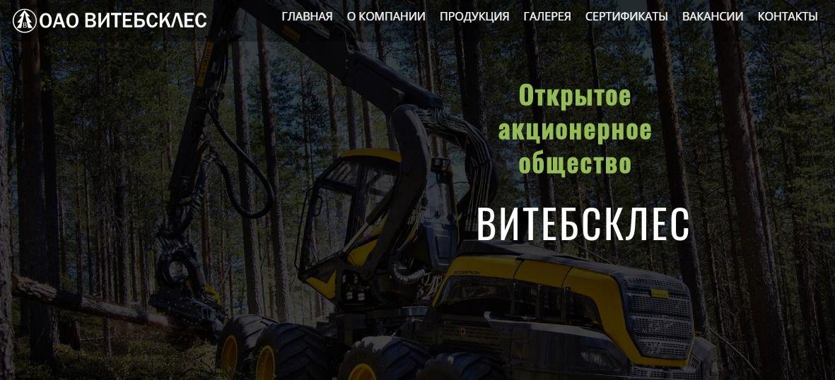 "Создание корпоративного сайта для ОАО ""Витебсклес"" - агентство 50 текс"